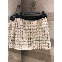 2019 Весенняя Новая женская юбка из хлопка с поясом мини юбка из хлопка