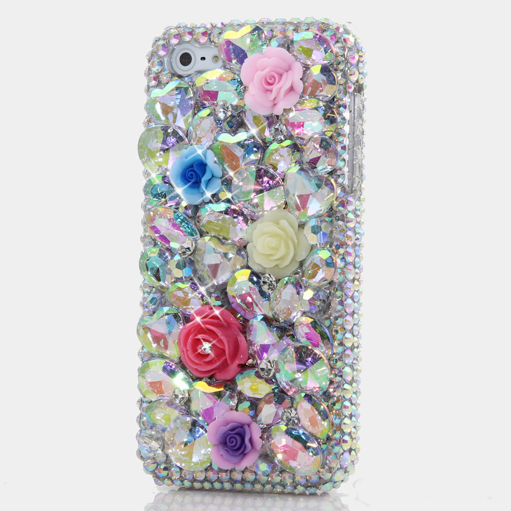 Bling Flower Crystal Woman Handmade Rhinestone Diamond Gift Phone Cover Case For Google Pixel/Pixel XL/Google Pixel 2/Pixel XL 2