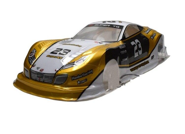 YUKALA 1/10 rc car parts PVC painted body shell for 1:10 R/C car 185mm No:049 2pcs/lot
