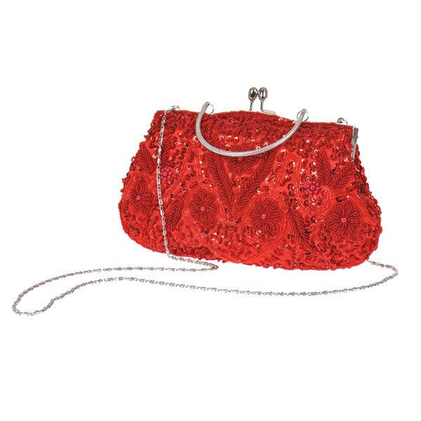 244e10dc8b US $18.58 |Womens Brand Fashion Polyester Beaded Handbag Wedding Party Prom  Clutch Purse Evening Bag for Women Girls(red)-in Crossbody Bags from ...