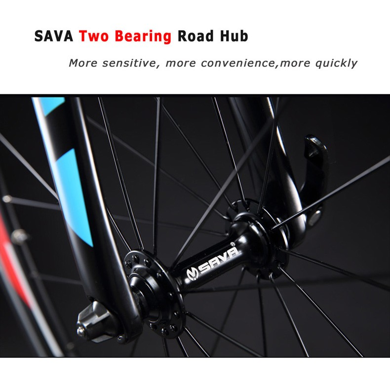 SAVA Road Bike 700C Carbon Road Bike T700 Carbon Frame+fork Bicycle Road Speed Bike Racing with SHIMANO SORA bicicleta carretera