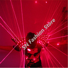 HH09 Red color men Laser vest Costumes cloth suit LED laser bar party props performing luminous clothing dj disco dress show