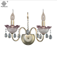 Euro Style Palace Vintage Crystal Wall Lamp Bedroom Bedside Luxury Crystal Candle Lamp For Living Room