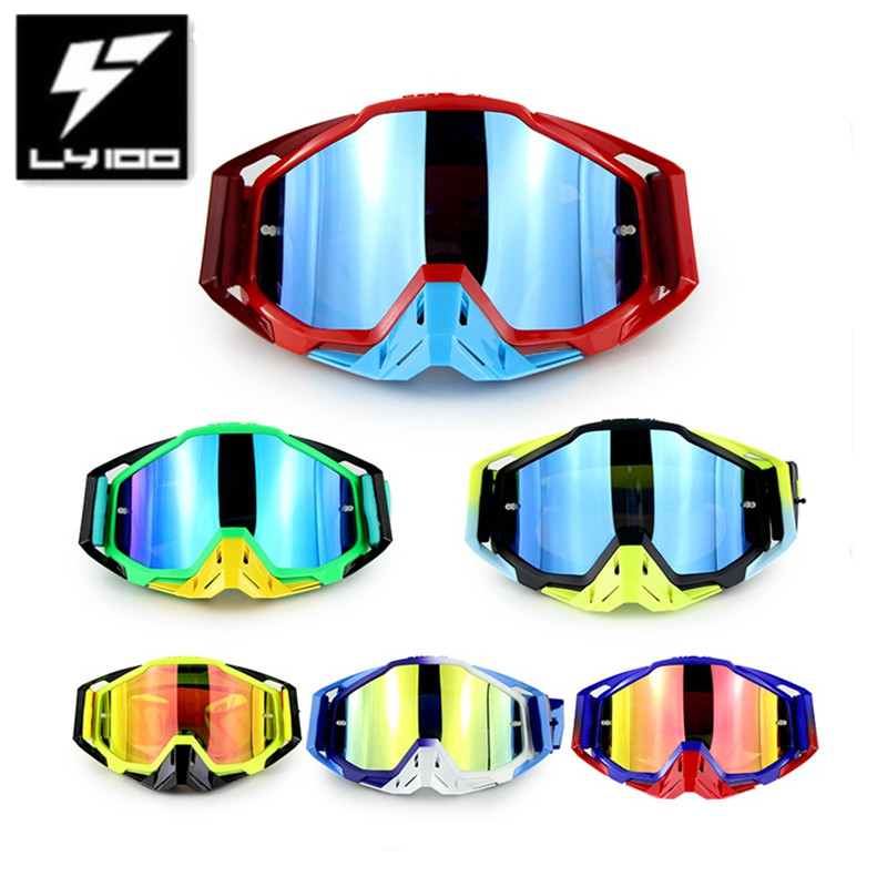High Quality 100% Original LY-100 Brand Motocross Goggles Racing Casco Moto Bike Sunglasses ATV Casque Motorcycle Glasses new arrival soman brand motocross goggles atv casque motorcycle glasses with 5 tear off films
