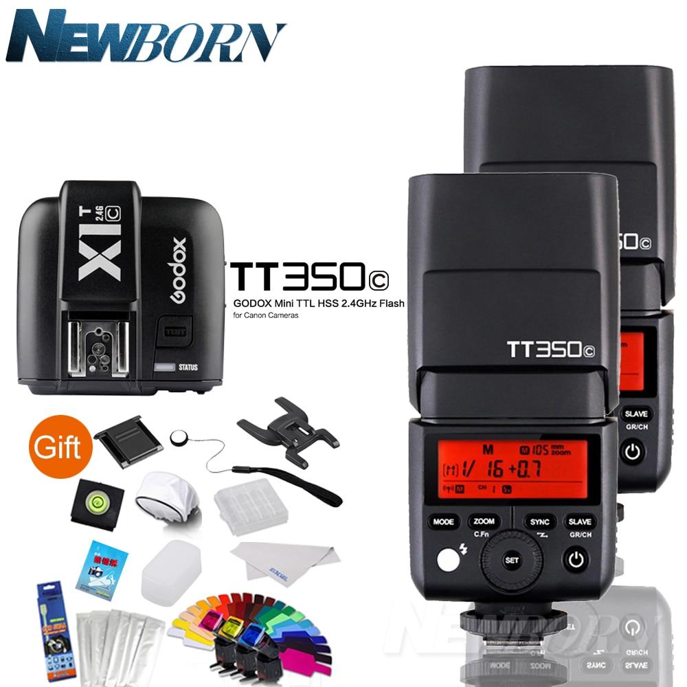 2 * GODOX TT350C 2.4G HSS GN36 TTL Mini flash Speedlite + transmetteur de X1T-C sans fil pour Canon EOS 800D 650D 600D 750D 77D M5 M32 * GODOX TT350C 2.4G HSS GN36 TTL Mini flash Speedlite + transmetteur de X1T-C sans fil pour Canon EOS 800D 650D 600D 750D 77D M5 M3
