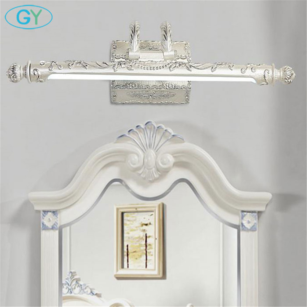 Europe style LED resin mirror vanity lights 7W 9W Art Decor bathroom mirror front lamp Vintage L54cm L68cm dressing room lamp