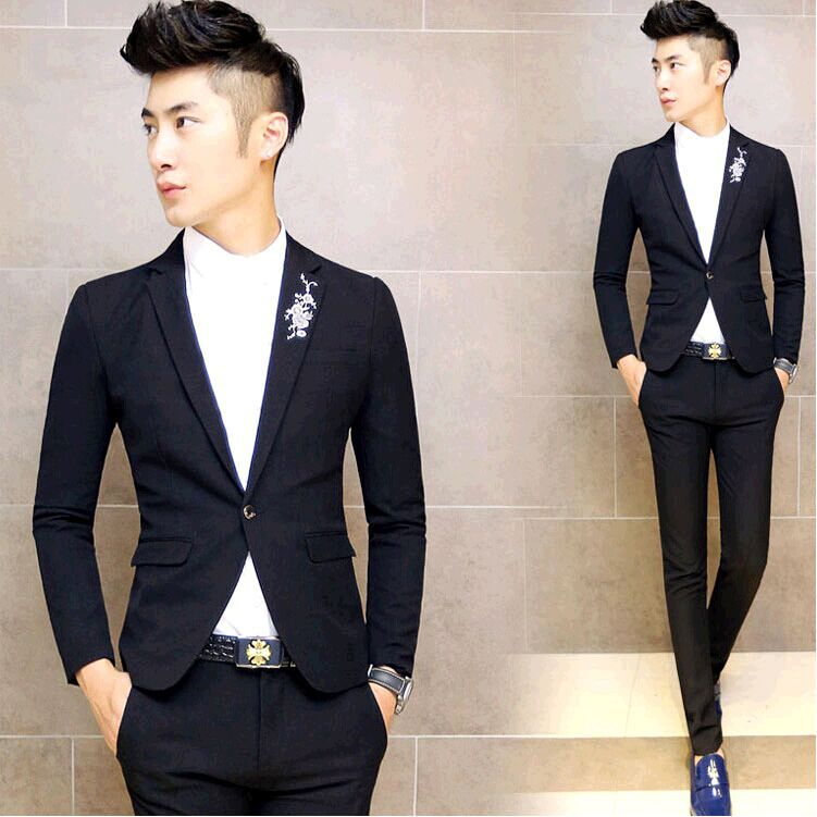 6dfbfeacfc5f Fashion Slim Cheap Dress Suits For Men Teenagers Boy 2015 New Arrival  Pattern menswear suit Casual Men Tuxedo Wedding Prom Suits-in Suits from  Men's ...