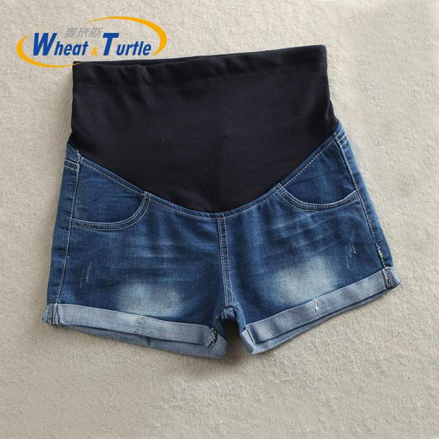 2016 Nueva Llegada Del Verano Pantalones Cortos De Maternidad Pantalones Vaqueros Más Calientes de La Venta Pantalones Vaqueros Calientes del Dril de Algodón Para Las Mujeres Embarazadas, La Moda de Verano Pantalones Vaqueros cortos