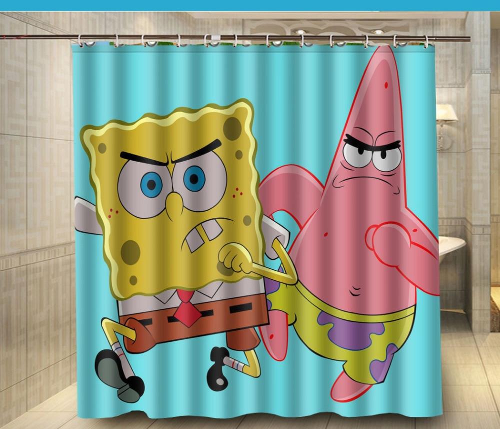 Spongebob squarepants bathroom accessories - Download Spongebob Shower Curtain Spongebob Squarepants Bath Rug Shower Curtain