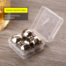 4 pcs/lot Reusable Stainless Steel Ice Cubes Cool Whiskey Stones Ice Cubes With Ice Tong Soapstone Glacier Cooler Stone