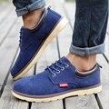 Новые Случайные Дышащие Плюс Размер Мужская Обувь Матовая Кожа Низком Каблуке Нескользящим Резиновая Обувь Корейской Моды Обувь