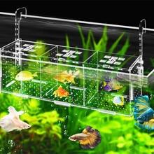Акриловая прозрачная изолирующая коробка для аквариума для рыб, Фрай, инкубация, размножение одной и двойной сетки