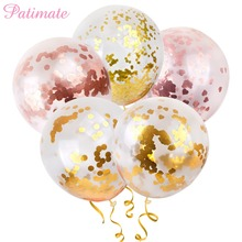 PATIMATE 36inch Big size Confetti Balloons Happy Childrens Birthday Wedding Foil Baby Shower Weeding Favors