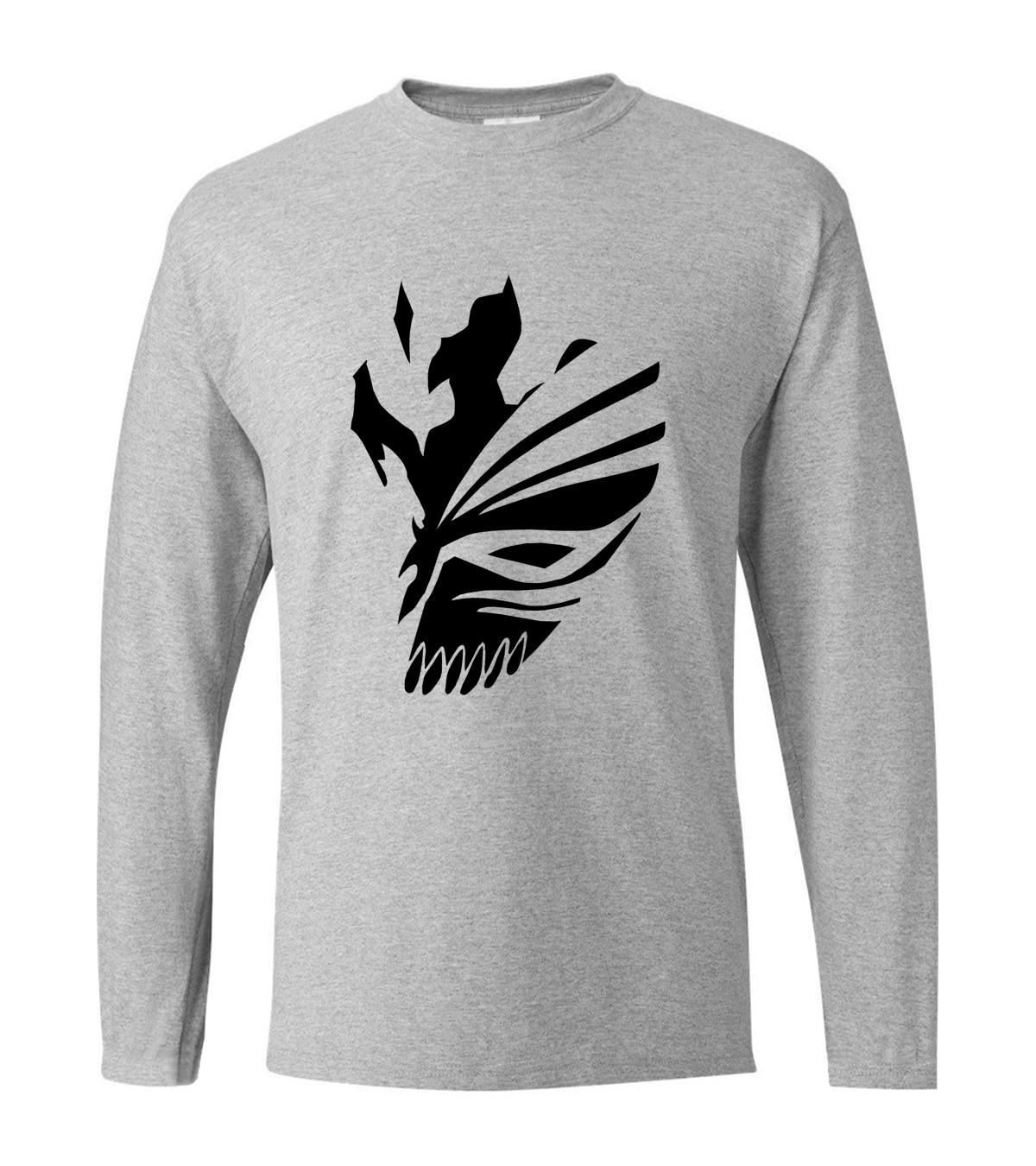 Anime BLEACH Kurosaki Ichigo hip hop men's long sleeve T-shirts 2019 new spring 100% cotton fitness hipster men's sportswear