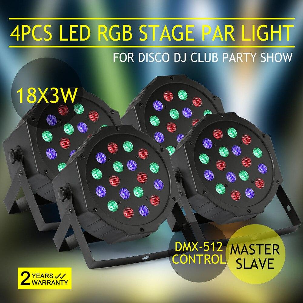 SOUND ACTIVE 54W DMX PAR64 PARTY DJ CLUB 4 PCS 18x3 54W LED PAR STAGE LIGHTSOUND ACTIVE 54W DMX PAR64 PARTY DJ CLUB 4 PCS 18x3 54W LED PAR STAGE LIGHT