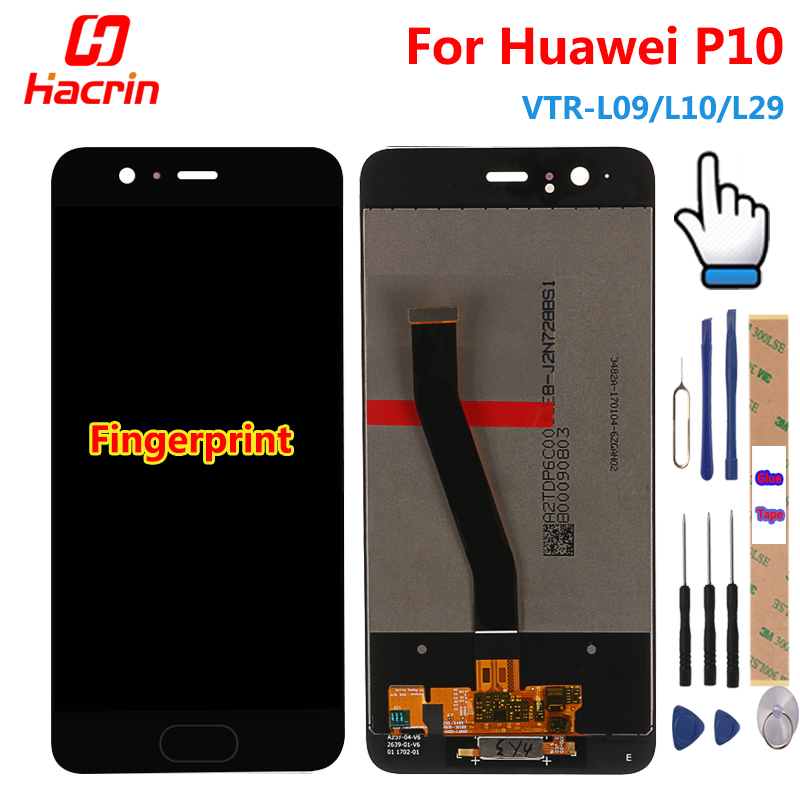 Huawei P10 LCD Display +Touch Screen Tested Good Digitizer Panel Accessory Replacement Screen For Huawei P10 VTR-L09/L10/L29