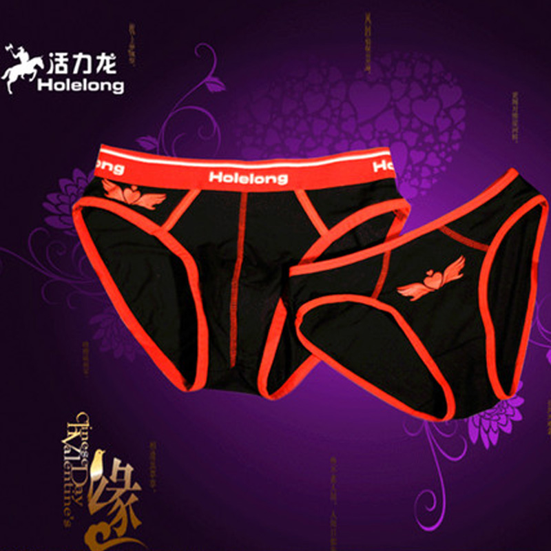 Valentines Day gifts for mens underwear Ms. couple suits Angels printing sexy triangular pants HCSQ004