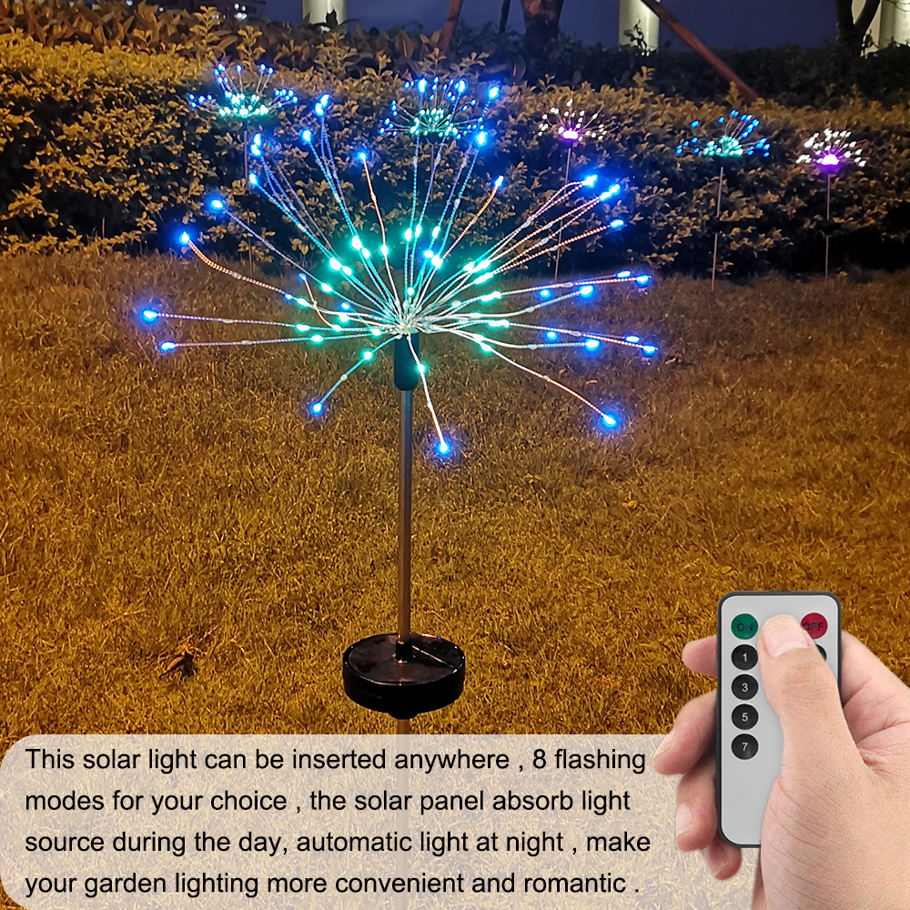 4 pacotes multicolorido led solar powered starburst