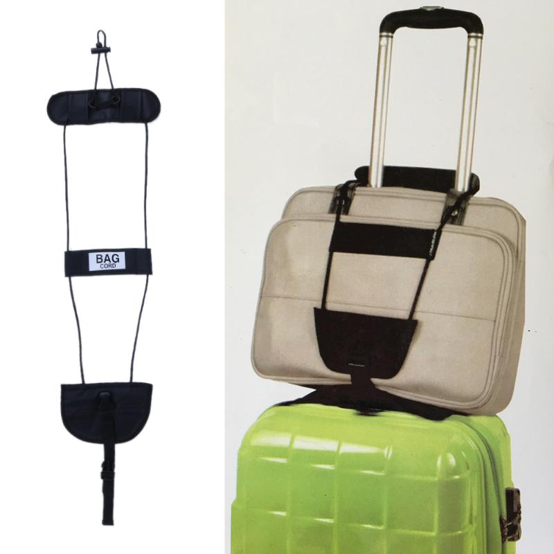 Add-A-Bag Luggage Strap Color - Black Adjustable Suitcase Straps Belt Travel Accessories