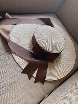 axi-green ribbon European show style summer handmade paper wind brim leisure beach lady cap women sun hat  - DISCOUNT ITEM  6 OFF Apparel Accessories