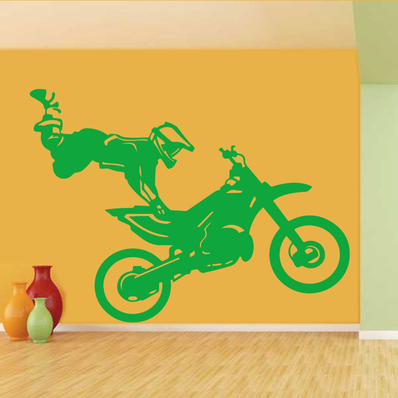 Wall Stickers Motorcycle Bikers Vinyl Wall Stickers Home Decor Boys Room Wall Decals Kids Room House Decoration