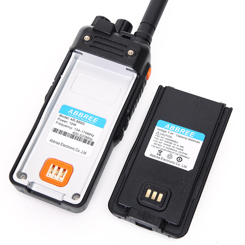 ABBREE AR-889G GPS SOS 10 W 999CH Croix Bande Répéteur Nuit Rétro-Éclairage Tri Bande 134-174/400-520/350- 390 MHz (RX) radio Talkie Walkie - 5