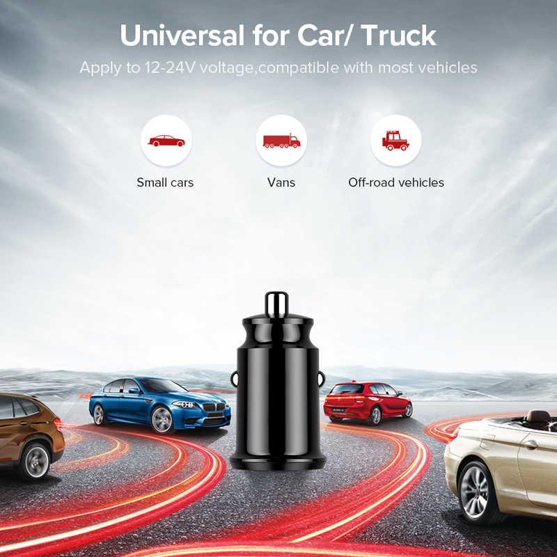 شاحن سيارة USB صغير المحمول هاتف لوحي GPS محول سريع تهمة المزدوج 2 ميناء USB سيارة شحن ل فون X سامسونج Xiaomi هواوي