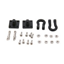 RC Car Metal Trailer Shackle Rescue Tow Hook for 1/10 RC Crawler Traxxas TRX4 Axial SCX10 90046 RC4WD D90 TF2 Tamiya CC01 dc 2 2inch high quality 6061 alloy cnc wheel rim for 1 10 rc crawler car traxxas trx4 ford bronco rc4wd d90 axial scx10 90046
