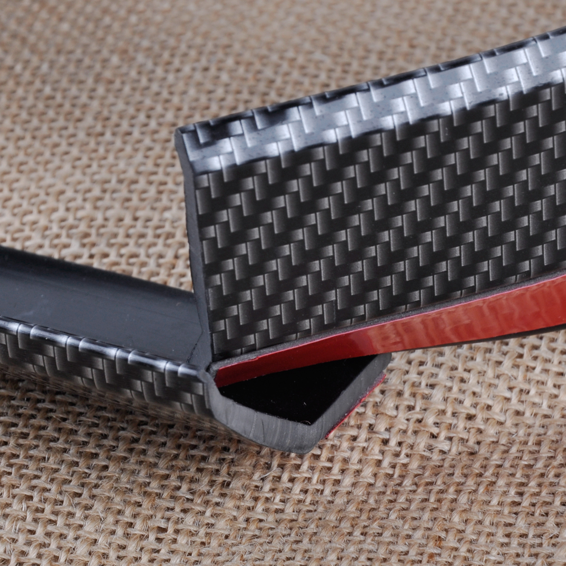 Buy Car styling Carbon Fiber Texture Rubber Front Bumper Lip