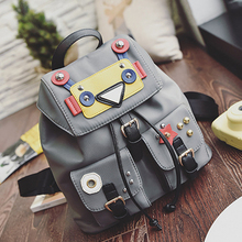 2016 Hot Sale Oxford Women Camouflage Backpack School Bags for Teenage Girls Fashion Travel Shoulder Bags Funny Robot Backpacks