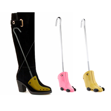 1 Piece Practical Shoe Tree Boots High Heels Stretcher Expander Support Stretcher Shaper for Women Ladies Shoes Pink Yellow brand adjustable expander vintage shoes tree shaper rack 1 piece metal shoe stretcher aluminum alloy shoe trees for men women