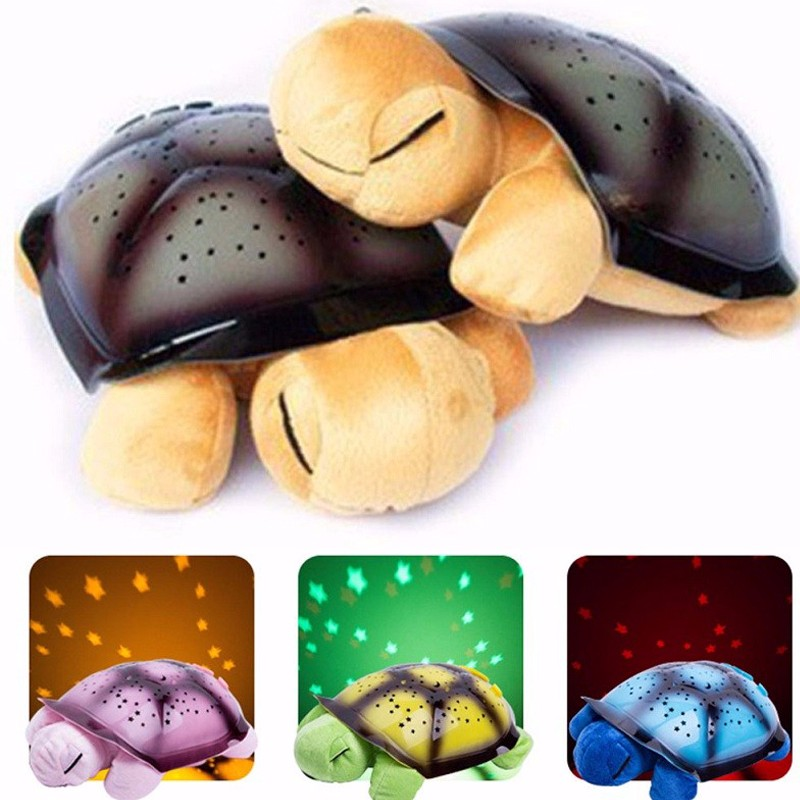 Cute Design Led Night Light Stars Projector Baby Toy For Children Kids With Music Turtle Lamp Music Turtle Lamp Novelty Sky