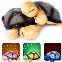 WINCO Cute Design Led Night Light Star Projector Baby Toy For Children Kids With Novelty Sky Music Turtle Lamp Music Turtle Lamp