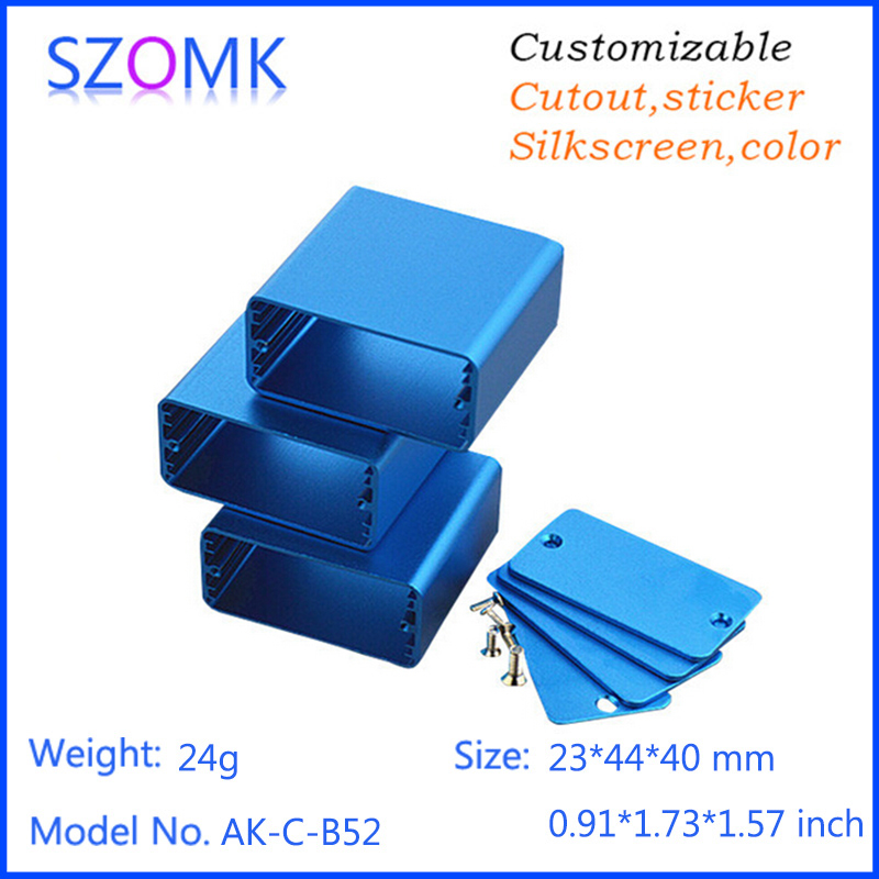 10 pcs 234440mm szomk aluminium box electronic enclosure 10 pcs 234440mm szomk aluminium box electronic enclosure project aluminium extrusion box diy enclosure for power control box in connectors from home sciox Choice Image
