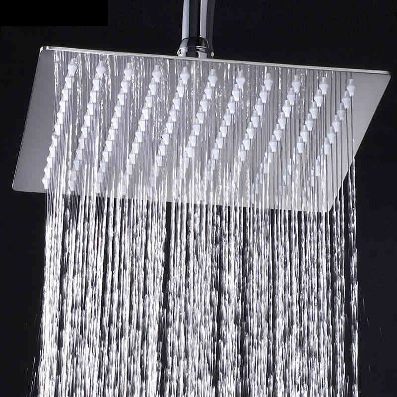 Free-Shipping-Chrome-Wall-Mounted-Ultrathin-Square-8-Shower-Head-Brass-Shower-Arm-150cm-Srainless-Steel (4)