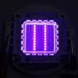2018 10 Вт 20 Вт 50 Вт 100 Вт УФ ультрафиолетовый светодиодный чип 415-420nm Светодиодная лампа