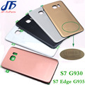 Заднее Стекло замена Крышки Для Samsung GALAXY S7 G930 S7 Edge G935 Задний Корпус Батареи Двери Case Задняя и Клей с Логотипом