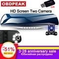 Автомобильный видеорегистратор-зеркало заднего вида, 4,3 дюйма, full HD 1080P