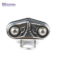 2 Pcs Mizugiwa Fast Entry Stainless Steel Boat Cam Cleat With Wire Flaired Leading Ring For