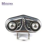 2 stks Mizugiwa Snelle Entry Rvs Boot Cam Cleat met Draad Flaired Toonaangevende Ring voor Lijn Maten Tot 7/16-Inch 12mm