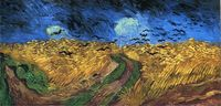 Impression art Wheatfield with Crows Van Gogh oil painting reproductions canvas wall pictures for bedroom decoration No Frame