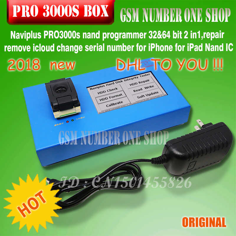 DHL /EMS TO Naviplus PRO3000s nand programmer 32&64 bit 2 in1,repair remove  icloud change serial number for iPhone /ipad Nand IC