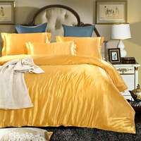 luxury gold satin/cotton bedding sets quilt/duvet covers bedspreads 4 5 pieces 500TC woven Chinese linens Adults bedroom sheets