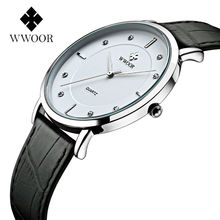 Top Brand Male Clock Ultra Thin design Men Waterproof Casual Business Men Watches Leather strap White dial Wrist Quartz Watch ultra thin dial business men quartz watch with alloy mesh band black and white dial with date display men s luxury wrist watches