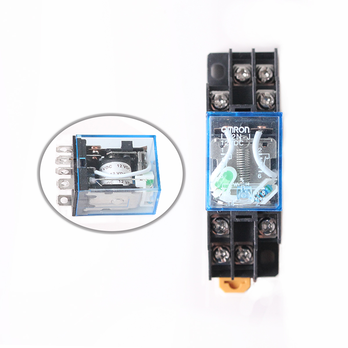 Electromagnetic Coil Power Relay LY2NJ DPDT 8Pin DC12V 24V AC220V HH62P JQX-13F Miniature Relay With Base