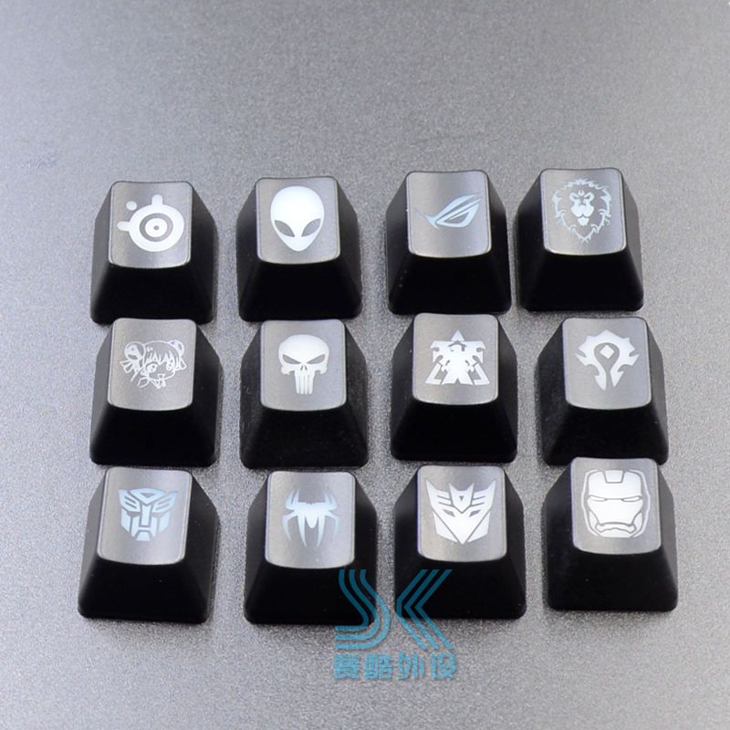 Personality Customized Mechanical Keyboard Keycaps Translucent Key Caps For Dota 2 Hero Skill Transformers Bat OEM R4 Height