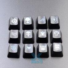 Personnalité personnalisée clavier mécanique keycaps translucide clés casquettes pour Dota 2 héros compétence transformateurs Bat OEM R4 hauteur