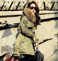 New winter fashion large fur collar medium-long thickening tooling down coat female down jacket women parkas outerwear T792