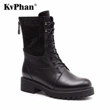 KvPhan Wool Fur Warm Women Boots Black Sheep Suede Boots For Women Ankle Back Zipper Low Square Heels Shoes Plush Size 35-41