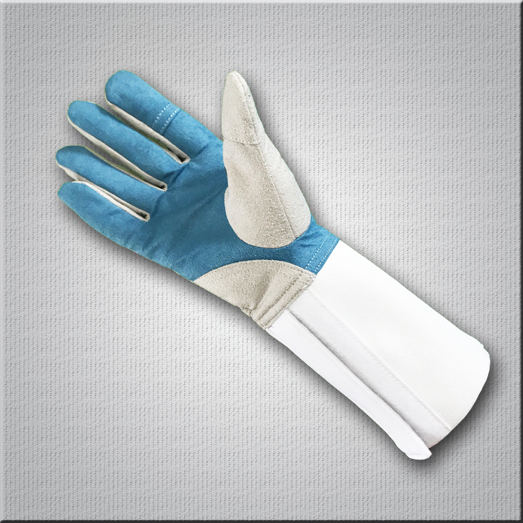 fencing clothes fencing glove fencing socks with blue logo foil cord to France